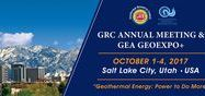 GRC's 41st Annual Meeting & GEA GeoExpo+ / The geothermal energy event of the year.......
