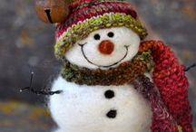Vánoce - drobné dekorace / Korálkové ozdoby, dekorace z plsti a textilu, háčkované ozdoby,