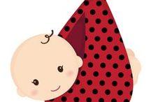 Baby&kids / Figuras para Apliques em roupas, camisetas, fraldas, paninhos de boca, mantas para bebê, etc... / by Tânia Frias