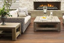 Exterior Spaces / Beautifully designed exteriors: patios, decks, grills, fire pits.