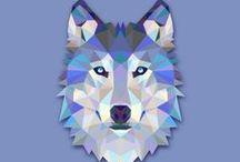 Grafiki / wzory / wzory / motywy zwierzęce do wykorzystania w decoupage'u, obrazka z nitek, neonu