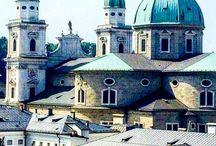 Salzburg, Austria / Old and New city of Salzburg