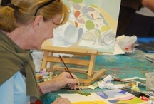 Adult Painting, Abstract and Figurative Art / At Faux Arts we do a range of Art courses for adults including, life drawing, figurative painting, drawing with confidence, Mixed Media Techniques, Ceramics and Ceramic Scultpure and a full range of out and about painting days across the Wilds of Wiltshire.  These are all taught by our resident experienced artist and art instructor Sue Faux