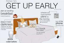 Úspěšný den / Infografiky, odkazy na šlánky, jak být produktivní, efektivní, ranní rituály, návyky