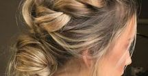 Style || Hair / hair styling, braids, ponytails, color