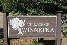 "Winnetka / Incorporated in 1869, and Native American for ""beautiful land"", Winnetka is a lovely village bordered by Kenilworth to the south, Northfield to the west, Glencoe to the north, and Lake Michigan to the east. The village consists of peaceful tree-lined streets and family-centered neighborhoods, as well as three stops on the Metra line: Indian Hill, downtown Winnetka and Hubbard Woods."