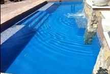 "Woodbridge by San Juan Fiberglass Pools /  Woodbridge (21 photos)  Width 15' 10"" / 4.52M Length 33' 10"" / 10.01M Depth 5' 1"" / 1.55M Area 487ft2 / 11.8M2 Volume 11,600G / 43,200L"