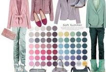 Soft Summer Fashions Sets / Fashion sets in Soft Summer - It's best to MATCH YOUR fashion colours in natural daylight, using your 12 Tone Colour Palette Fan, as colours will vary from PC to PC and may not be true to life.