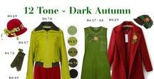 Dark Autumn Fashion Sets / Fashion sets in Dark Autumn - It's best to MATCH YOUR fashion under natural daylight, using YOUR 12 Tone Colour Palette Fan, as colours will vary from PC to PC and may not be true to life.