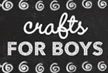 Craft Projects for Boys / Crafts Projects for Boys, Cool Craft Ideas and DIY Projects for Boys. Most of these were picked by or for, my two boys. They are little DIY makers, and we love new craft and DIY ideas. So much to make, so little time...
