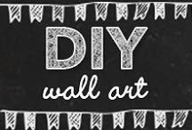 DIY Wall Art Ideas / Cool DIY Wall Art Ideas for Bedroom, Bathroom, Home Decor Paintings, Canvas To Decorate Yourself. Cute and Easy Christmas Gift Ideas. Hand painted signs, flags, stencil and fabric craft ideas.