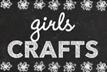 Girls Crafts / Girls Crafts DIY Ideas and cute projects for kids to make at home. Easy, crafty tutorials for Little girls, Tweens, Teens and Preteen girls. My teenage daughter picked many of these cool ideas. We've made more than I'd like to admit. Anything girly, anything bows, anything pink, anything that involved adhesive or thread, string, yarn, we'll try it.