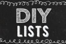 DIY Lists / DIY list ideas with Do It Yourself Projects and long lists of cool DIY ideas and project tips. Lots of DIY lists, only lists. DIY Projects for the Home, Fashion, craft Room, Organization, Kitchen, Bedroom, Bath, Garden. Crafts for Teens, Kids, Women, Men, Pets. Upcycled Furniture, Homemade Recipes, DIY Jewelry Making, Paper Crafts, Mason Jars, Homesteading, Holiday, Gifts. List of best DIYs from top DIY blogs and craft bloggers.