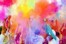 som i en storm av färger
