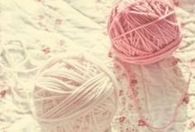 Crochetting, knitting, sew