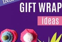 DIY Gift Wrapping Ideas / DIY Gift Wrapping Ideas for perfect gift wrap on birthdays, Christmas and holiday. Step by step tutorials for making gift bags, bows, wraps, scarf tying and easy last minute gift wrap ideas for DYI presents