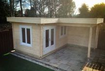 Flat roof cabins