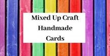 Mixed Up Craft Handmade Cards / Bold and colourful cards that anyone can make.  See how they are made on my YouTube channel Mixed Up Craft.