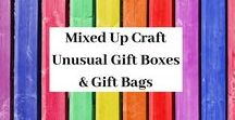 Unusual Gift Boxes & Gift Bags / A board full of Unusual Gift Boxes & Gift Bags