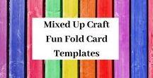 Fun Fold Card Templates / A board full of Fun Fold & Fancy Fold card templates