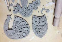 Art: clay works / Savi- ja muovailutyöt