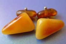 AMBER Cufflinks & Tie Clips / BALTIC AMBER Jewelry - CUFFLINKS & TIE CLIPS / CLASP / TACK