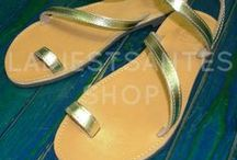 Grecian Leather Sandals / Dearly loved by many women sandals appeared several thousand years ago and is the oldest kind of shoes on the ground. You can safely say that the sandals - these modern grandparents' shoes: shoes, sandals, boots, etc. Sandals and now do not lose their relevance, remaining one of the most popular summer women's shoes.