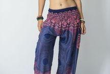 Blue Harem Pants / http://www.harempants.com/collections/blue