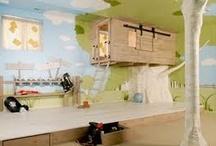 Déco gain de place / bunk beds / loft beds / small spaces / Déco gain de place, lits supperposés, lits surelevés, petite chambre, mezzanine, petits espaces. Small spaces, bunk beds, twin beds, loft beds