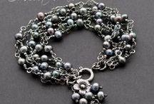 My jewellery / Moja, ręcznie tworzona biżuteria za srebra, naturalnych minerałów i pereł