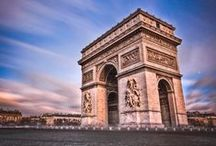 Arc de Triomphe / The Triumphal Arch honours those who fought and died for France in the French Revolutionary and the Napoleonic Wars, their names are inscribed on its inner and outer surfaces. #Paris #PARISCityVISION #VisitParis