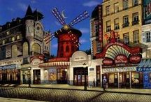 Moulin Rouge / A look unto the world's most famous cabaret Moulin Rouge.  It is the birthplace of the modern form of the can-can dance. #Paris #PARISCityVISION #VisitParis
