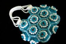 crochet clothing and bags / crochet piece of cloth