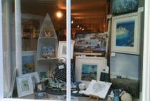 Cornwall Art Galleries, Falmouth / Our shop in Falmouth, Cornwall sells mounted prints, canvases, framed artwork, gifts, and cards as well as more unusual pieces of artwork using glass, ceramics and metal.