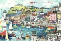 Serena prints / Serena's inspiration comes from happy childhood memories and she has produced a group of paintings that have come to be known as the 'Salad Days Collection' depicting many Cornish scenes.