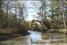 Dunsfold & Alfold / Restoration on the summit of the Wey & Arun Canal alongside Dunsfold Aerodrome.