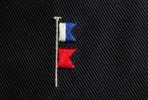 Tie needlework: flaunting your initials