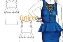 MOLDES VESTIDOS / En este tablero encontrarás diferentes modelos de vestidos para todas las ocasiones. También puedes visitar nuestra página web www.unicose.net