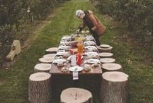 OUTDOOR & TABLE / We enjoy nature and therefore entertaining in the outdoors.