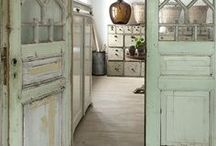 Modern French Country Inspired / Farmhouse Decor - Inspired room designs, home decor, all with a warm cozy farmhouse feel.