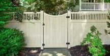Fences and Gates / Looking for great fence and gate ideas? Illusions Vinyl Fence is your brand! The most beautiful PVC vinyl fence and gate styles available today. Illusions Fence has over 60 styles of PVC vinyl fence available. You can also get gorgeous matching, accent, or custom fence gates. Here are some incredible product images and ideas for you. Perfect fence ideas, gate ideas, home decor ideas, fence decor ideas, backyard ideas, and landscaping ideas.