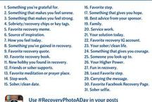 #RecoveryPhotoADay Challenge / We're hosting a recovery photo-a-day challenge in the month of March!  Each day in the month has a theme. Take a photo of an object, person, or place that fits the theme and post it online. Add the hashtag #RecoveryPhotoADay to your post so everyone can see it.  We will be reposting photos every day.  We hope you participate. It's a great way to express your creative side and to connect with the recovery community online!