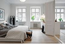 My Apartment's Theme / Aiming for a minimal contemporary and bright parisian modern Yoga and travel them, thats clean and clutter less. With a black to white main colour scheme accented with brown and green plants.