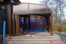 Pool enclosures / Retractable pool enclosures with or witout thermal breake