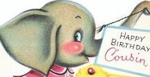 Vintage Elephant Cards