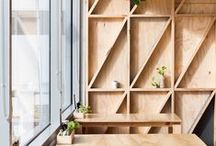 favorite interiors / pretty studio spaces, stores and appartments