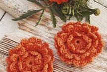 szydełkowe kwiatki