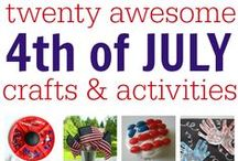 Holiday Activities (July- September) / Preschool holiday activities including Independence Day.