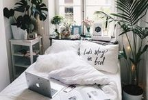 Bedroom Inspiration / Inspiration for a 20-something bedroom space!