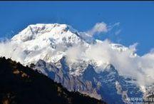 안나푸르나 / 풍요의 여신 안나푸르나 1봉<8,091m>을 주봉으로 서쪽으로 칼리간다키강과 동쪽으로 마르샹디계곡까지 7,000~8,000m 급의 연봉들이 병풍처럼 늘어선 아름다운 경관의 히말이다. 주요 산으로는 주봉을 비롯, 2, 3, 4, 남봉<7,219m> 다울라기리<8,167m>, 닐기리, 강가푸르나, 그리고 세계 3대 미봉 중 하나인 네팔 국민의 성산 마차푸차르<6,997m, 물고기 꼬리, 등반금지> 등이 있다.  <*세계 3대 미봉: 위 2곳과 유럽 알프스 스위스와 이탈리아 경계에 있는 마터호른, 4,478m>  트래킹 소용 시간은 보통 12일~13일 걸리나 의지의 한국인들은 빠르면 8일 늦어도 10일이면 끝낸다. 그리고 가끔씩 슬리퍼를 신고 뛰어서 가는 외국인에게 경의의 대상이 되는 사람들도 눈이 띈다.  이밖에 안나푸르나산군 전체를 보는 일주 코스는 25~30일 이 소요된다. 기본적인 체력만 된다면 누구나 할수 있다. 안나푸르나 베이스캠프(ABC)까지의 높이는 4,200m이다.